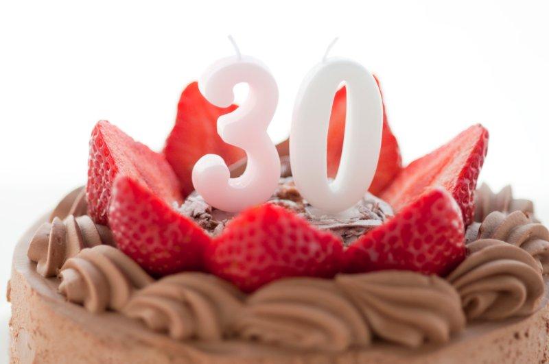 30歳のバースデーケーキ